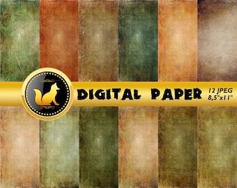 Green Vintage Background,Vintage Paper,Green paper,Vintage Scrapbook Paper,Vintage Backdrop,digital paper,Old Background,scrapbook paper