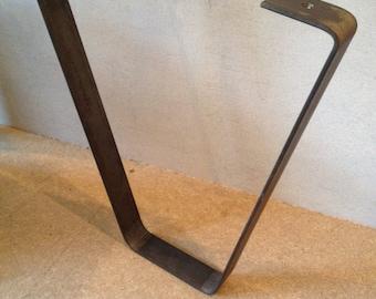 """Industrial Style Steel Coffee Table Legs, 12"""", Urban, Reclaimed, Rustic,"""