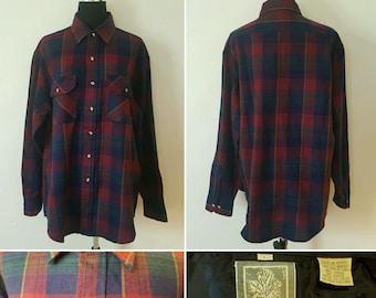 Vintage - Outdoor Exchange Korean Plaid Shirt - Men's Large
