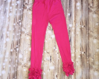 Hot Pink Icing Ruffle Leggings