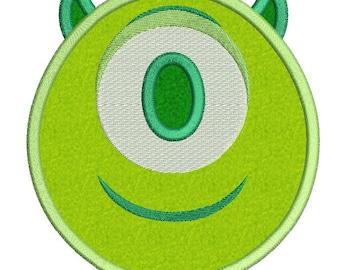 Emoji Mike Wazowski Happy Disney Applique Embroidery Design