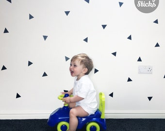 Triangle Shaped Confetti Wall Stickers / Decals - 2 Sizes & 21 Colours Available - FREE UK POSTAGE