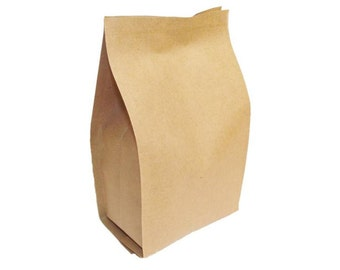 Foil Lined Kraft Paper Food Packaging Bag Tea 100g FAST & FREE UK Post