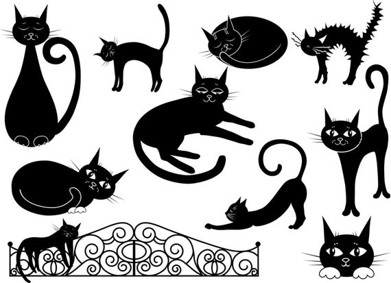 at clipart schwarze katze clipart vektor clipart cartoon. Black Bedroom Furniture Sets. Home Design Ideas