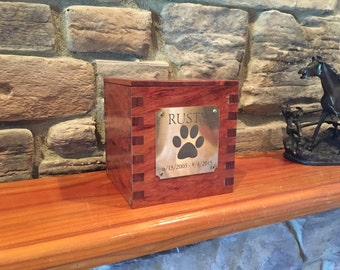 Wooden Personalized Pet Urn. Free engraving