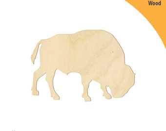Bison Wood Cutout Shape, Laser Cut Wood Shapes, Crafting Shapes, Gifts, Ornaments Bison