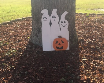 Ghost & Pumpkin decoration - Halloween Decor - Fall Decoration -Handmade