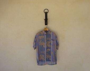 Aztec Print Shirt - Size Large