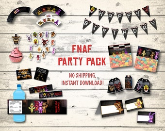 FNAF party pack, FNAF party supplies! Five Nights at Freddy's party pack, Five Nights at Freddy's party supplies! Digital files!