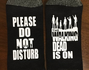 The Walking Dead Socks TWD Socks Please Do Not Disturb The Walking Dead Is On