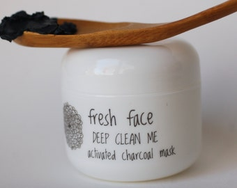 fresh face DEEP CLEAN ME activated charcoal face mask 2 oz - all natural