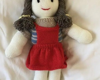 Hand Knitted Vintage Style Dolls : Amy