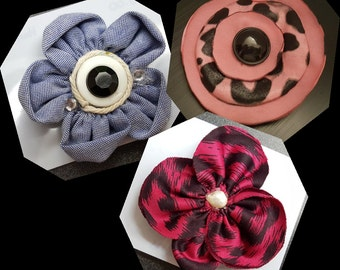 Flower Shaped Hair Clips