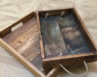 Serving Tray Handmade Reclaimed pallet furniture Rustic Shabby chic