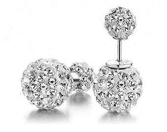 Wedding Stud Earrings, Pave Earrings, Crystal Wedding Earrings, Bridal Stud Earrings, Crystal Stud Earrings, Double Sided Earring