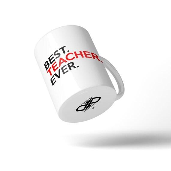 Best Teacher Ever Mug - Great Gift Idea Stocking Filler