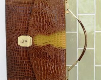 Darling 1960's Crocodile Leather Handbag