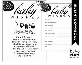 Animal Baby Wishes / Safari Baby Wishes / Tribal Baby Wishes / Jungle Baby Wishes / Boho Baby Wishes / Black White Baby Wishes
