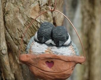 Sleeping Chickadee Ornament
