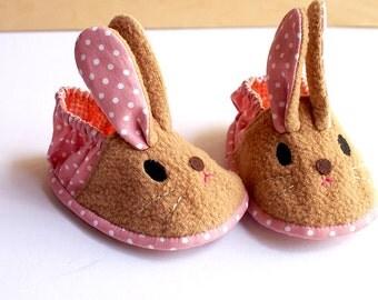 Elastic Baby Booties - Chubby Bunny 10