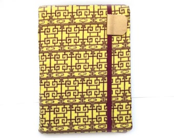 Kindle Paperwhite cover - Imperial Lattice - Kindle Touch,  Basic - hardcover eReader accessory tech gift - yellow maroon