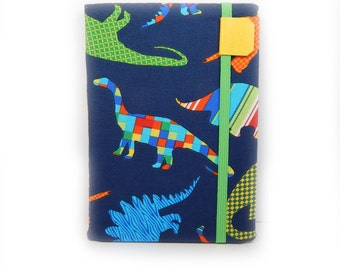 Kindle Paperwhite cover - DinoMite Dinosaurs - eReader hardcover - fits Touch, Basic - case for kindle touch - cute colorful dinosaur print
