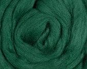 Merino Wool Roving - Comb Top -  Spinning or Felting - Pine Green