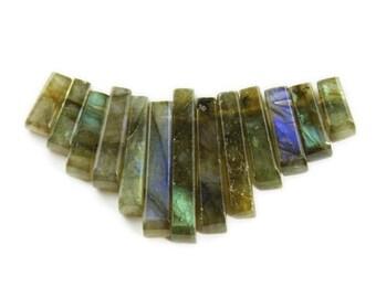 Labradorite Stick Collar Pendant Gemstone Beads