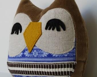 Nolan the Owlet little owl pillow plushie