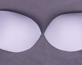 White Molded Bra Cups - Large Cup Sizes - 1 Pair (FCP85BW-1)