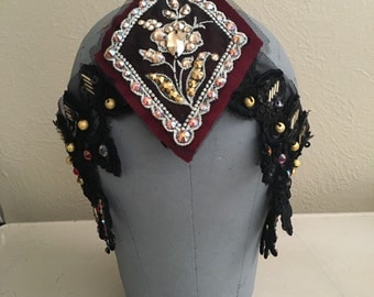 Matahari inspired beaded headpiece - flapper - 20s inspired - flapper costume accessory - ready to ship