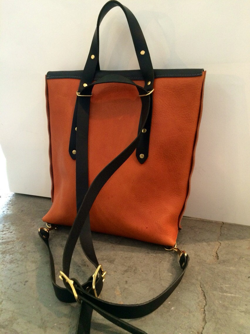 Special edition black and honey rucksack tote