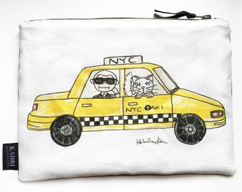 Karl in a Cab Pouch
