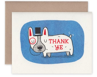 Thank Ye Corgi Greeting Card