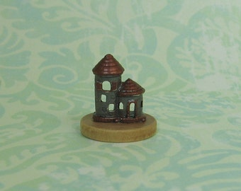 Dollhouse Miniature Grey & Copper Tower Figurine