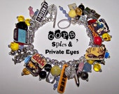 Cops, Spies, and Private Eyes Mystery Charm Bracelet