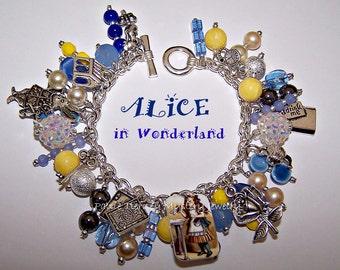 ALICE IN WONDERLAND Artisanal Charm Bracelet