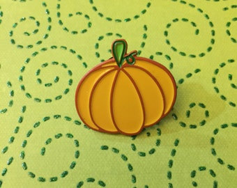 Orange pastel pumpkin enamel pin