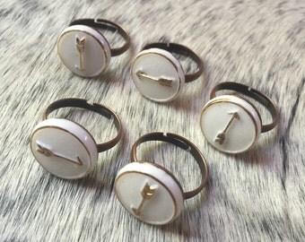 Direction Ring / Arrow / Vintage / Handmade /