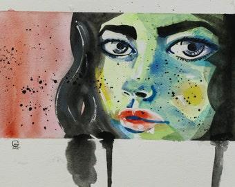 Original Artwork: Watercolour Painting - Bonjour June
