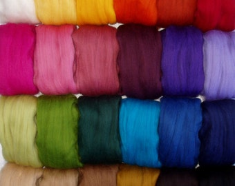 Super soft merino wool roving, spinning fiber, felting wool, choose from 25 colours, dolls hair, dread wool, 20 micron, 30g, 1oz