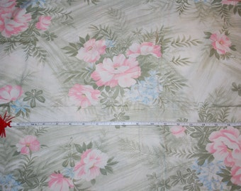 Large flowered print cotton fabric