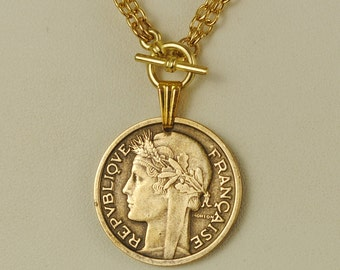 France Coin Necklace 1938