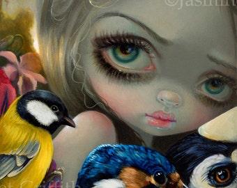 Birdsong 1 birds fairy art print by Jasmine Becket-Griffith 8x10 fairytale bird