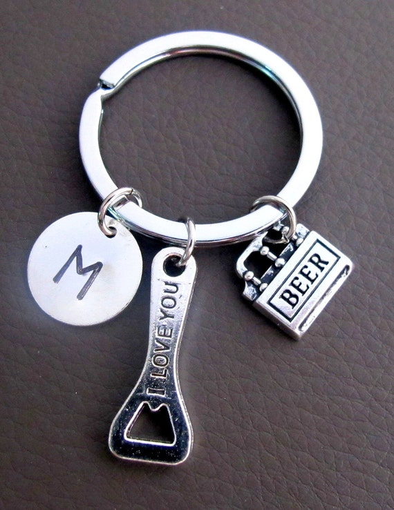 beer bottle opener keychain custom keychain personalized key. Black Bedroom Furniture Sets. Home Design Ideas