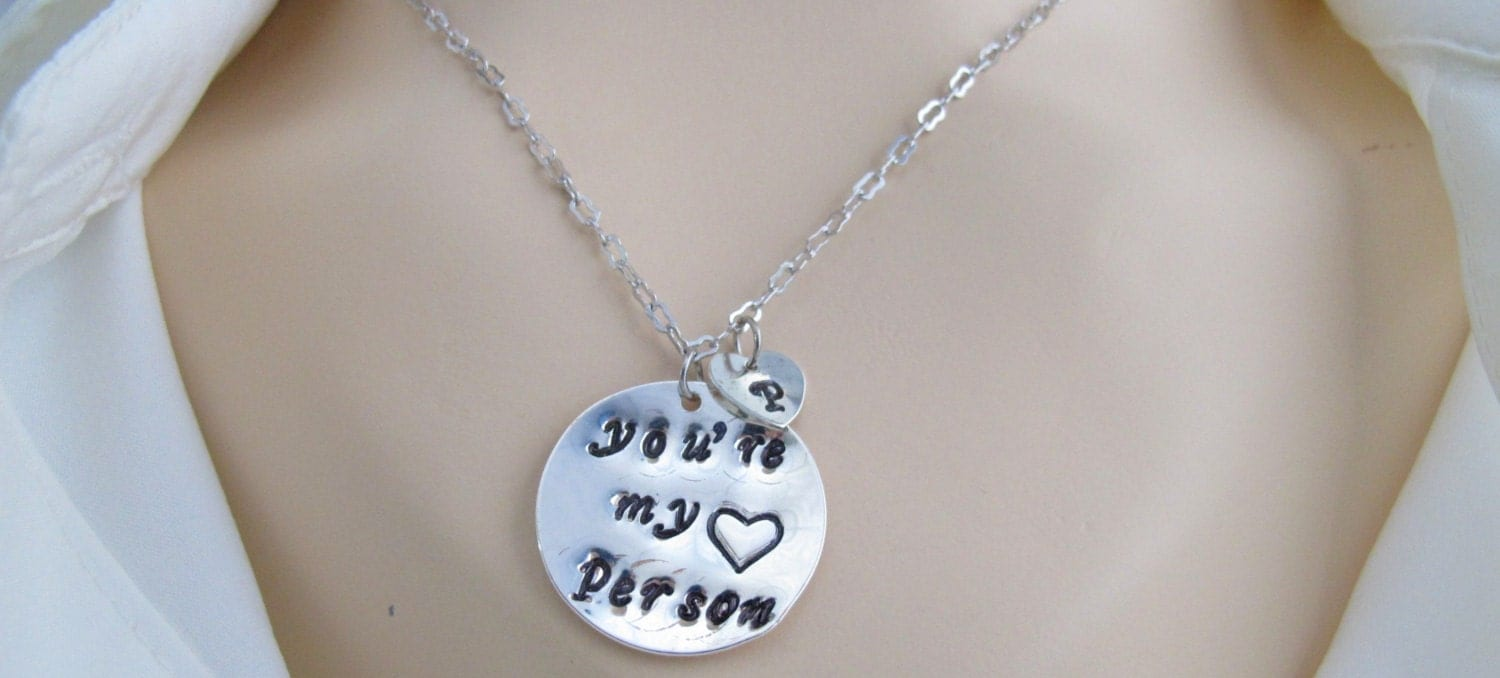 you re my person youre my person necklace best friend