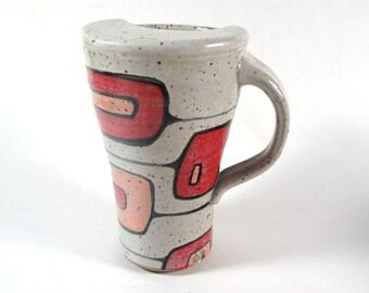 Travel Mug in Mod Squares