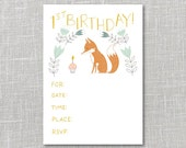 First Birthday Party Invitation Printable Instant Download PDF
