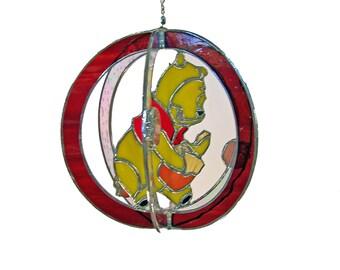 Winnie the Pooh Stained Glass Suncatcher
