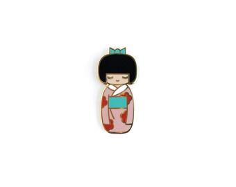 Traditional Kokeshi Doll • Hard Enamel Lapel Pin
